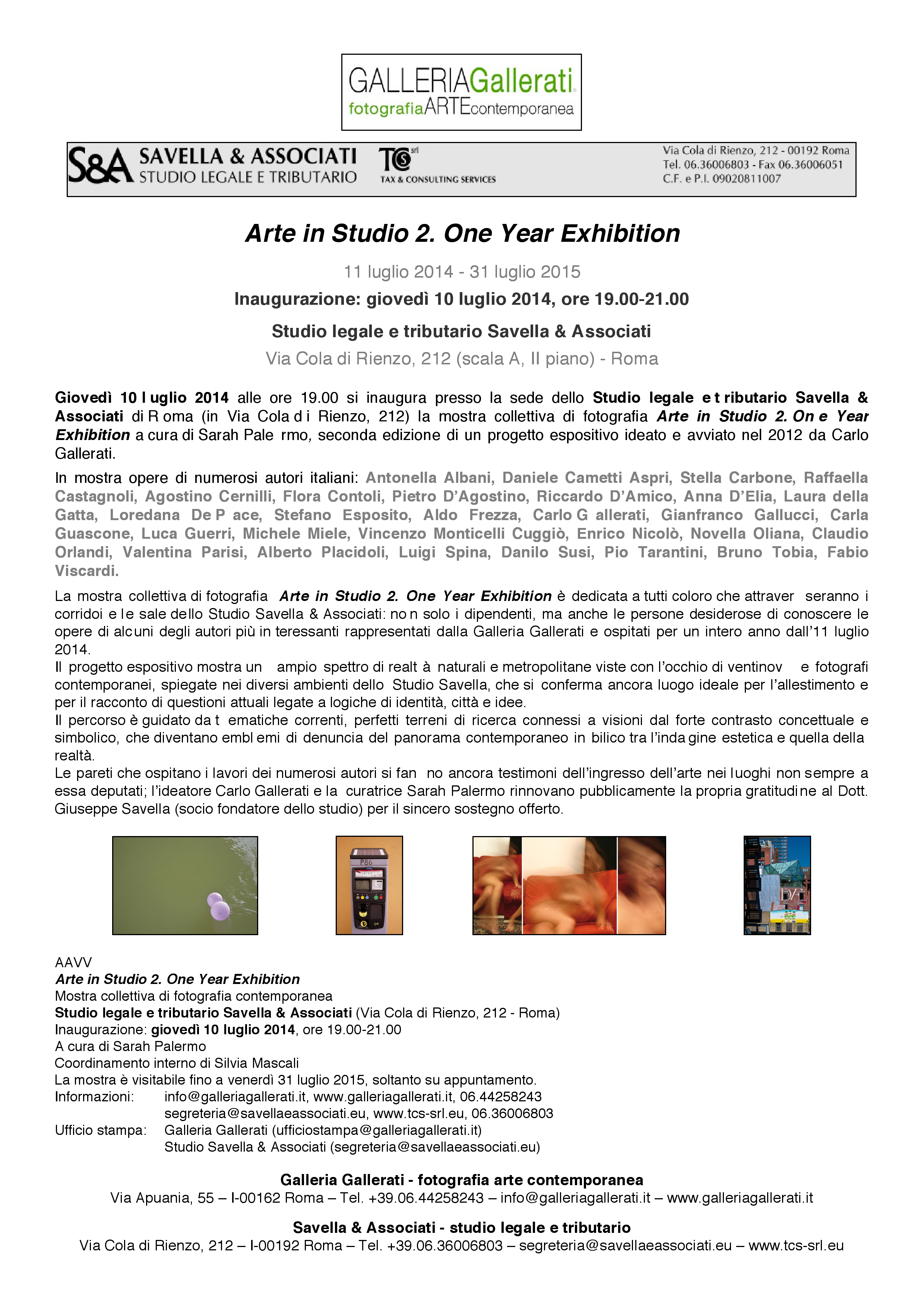 Arte in Studio 2. One Year Exhibition_COM.STP